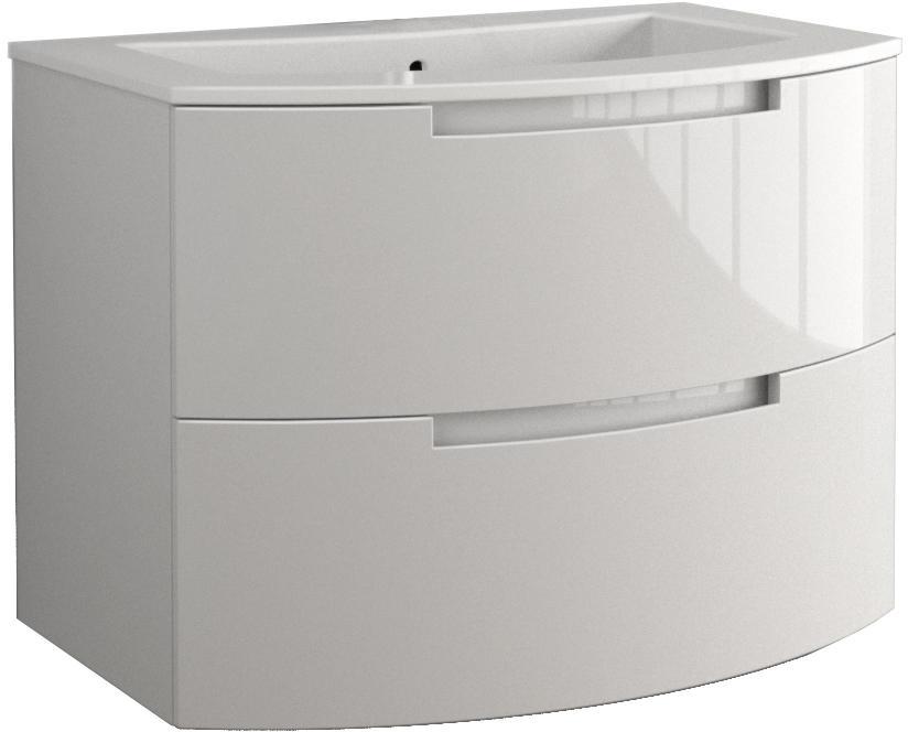 Anity 29 inch Modern Floating Bathroom Vanity Grey Glossy Finish