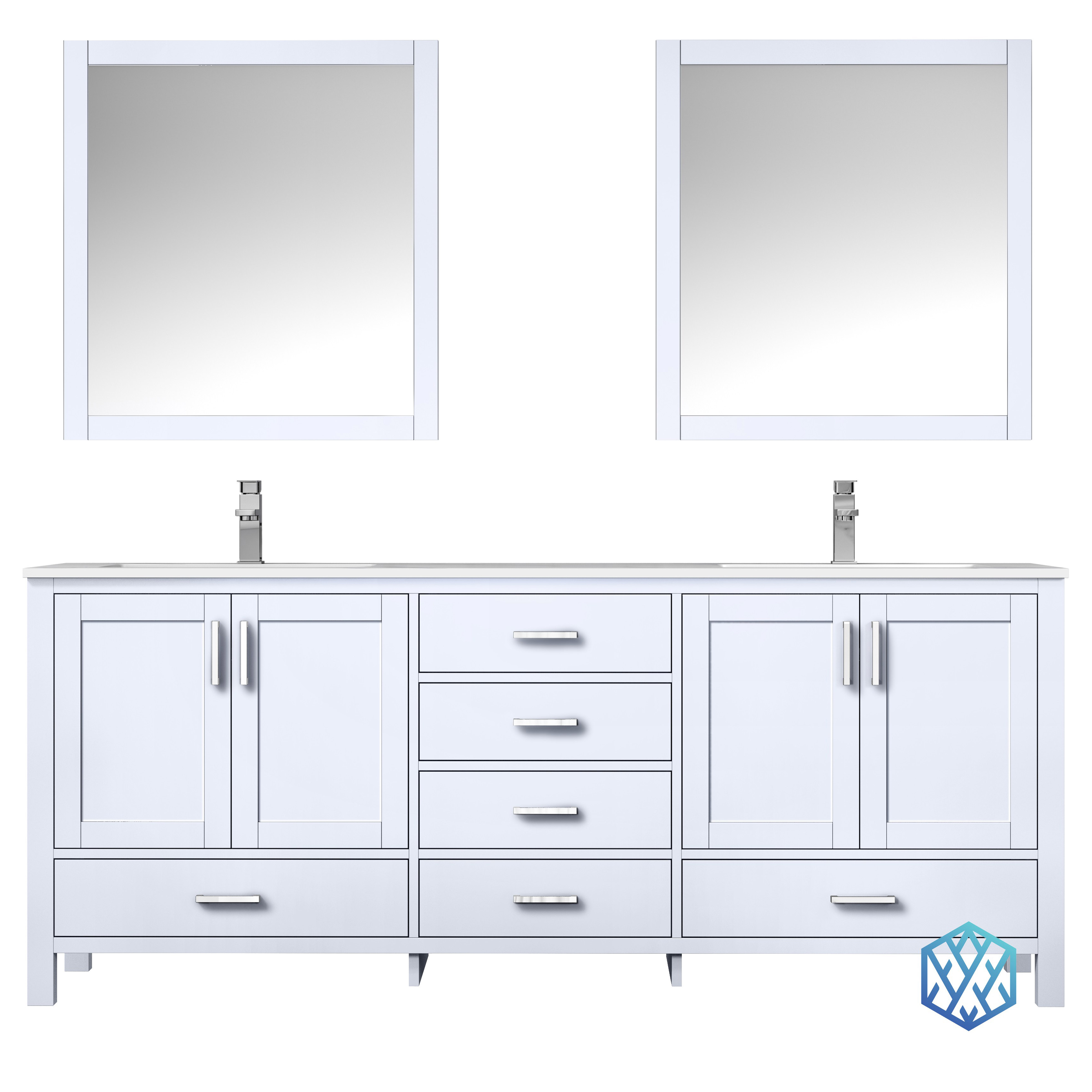 """80"""" White Vanity Cabinet Only with Countertop and Mirror Option"""