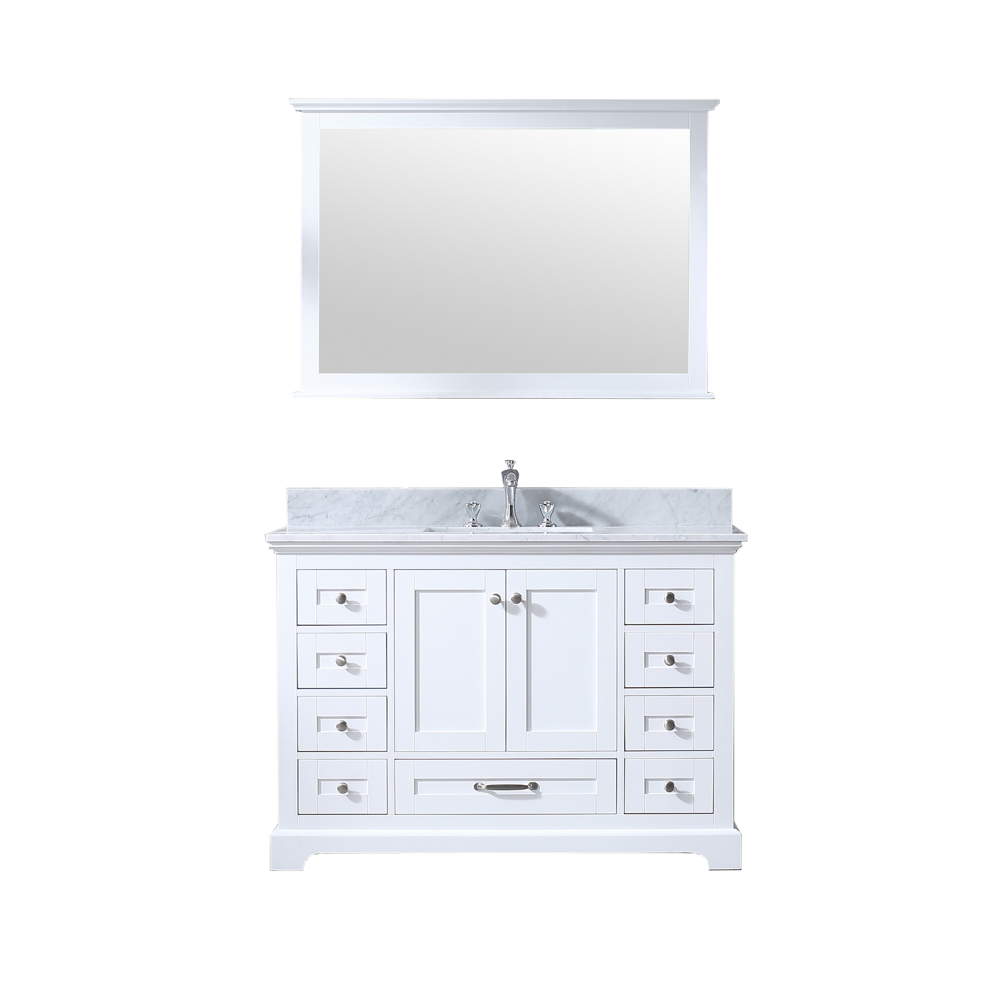 """48"""" White Vanity Cabinet Only with Countertop and Mirror Options"""
