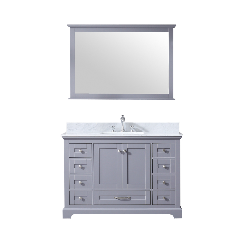 "48"" Dark Grey Vanity Cabinet Only with Mirror and Countertop Options"