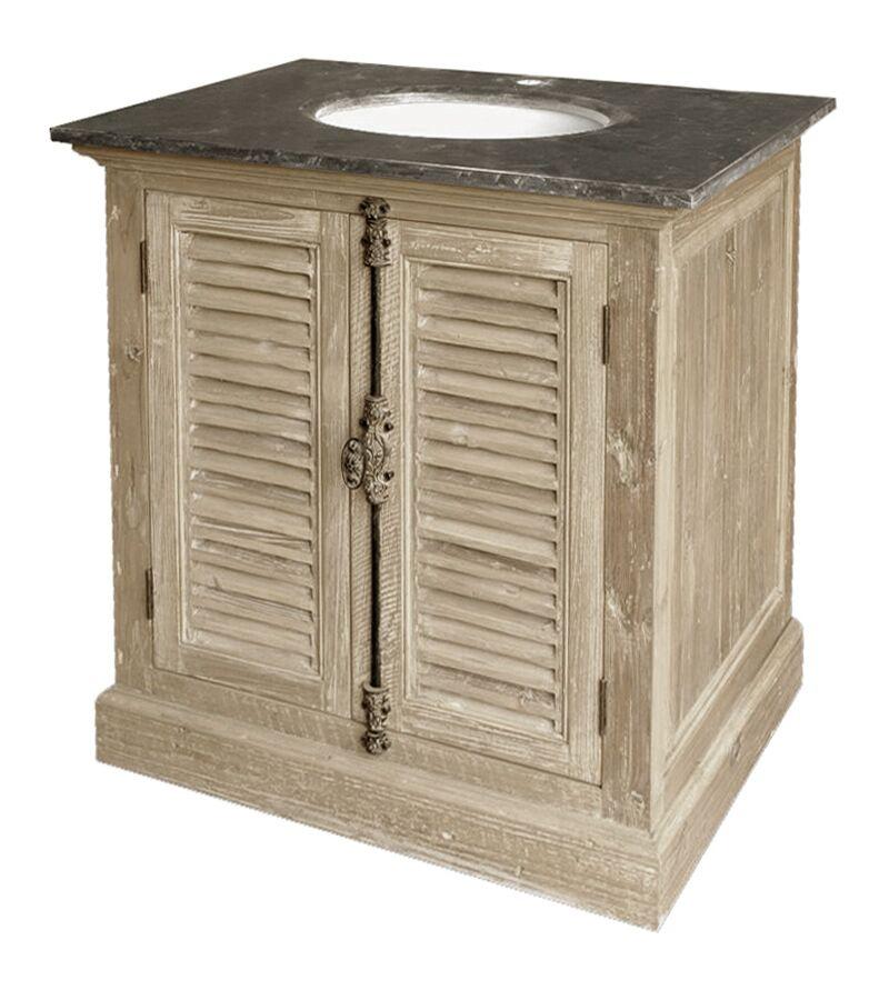 "33"" Handcrafted Reclaimed Pine Solid Wood Single Bath Vanity"