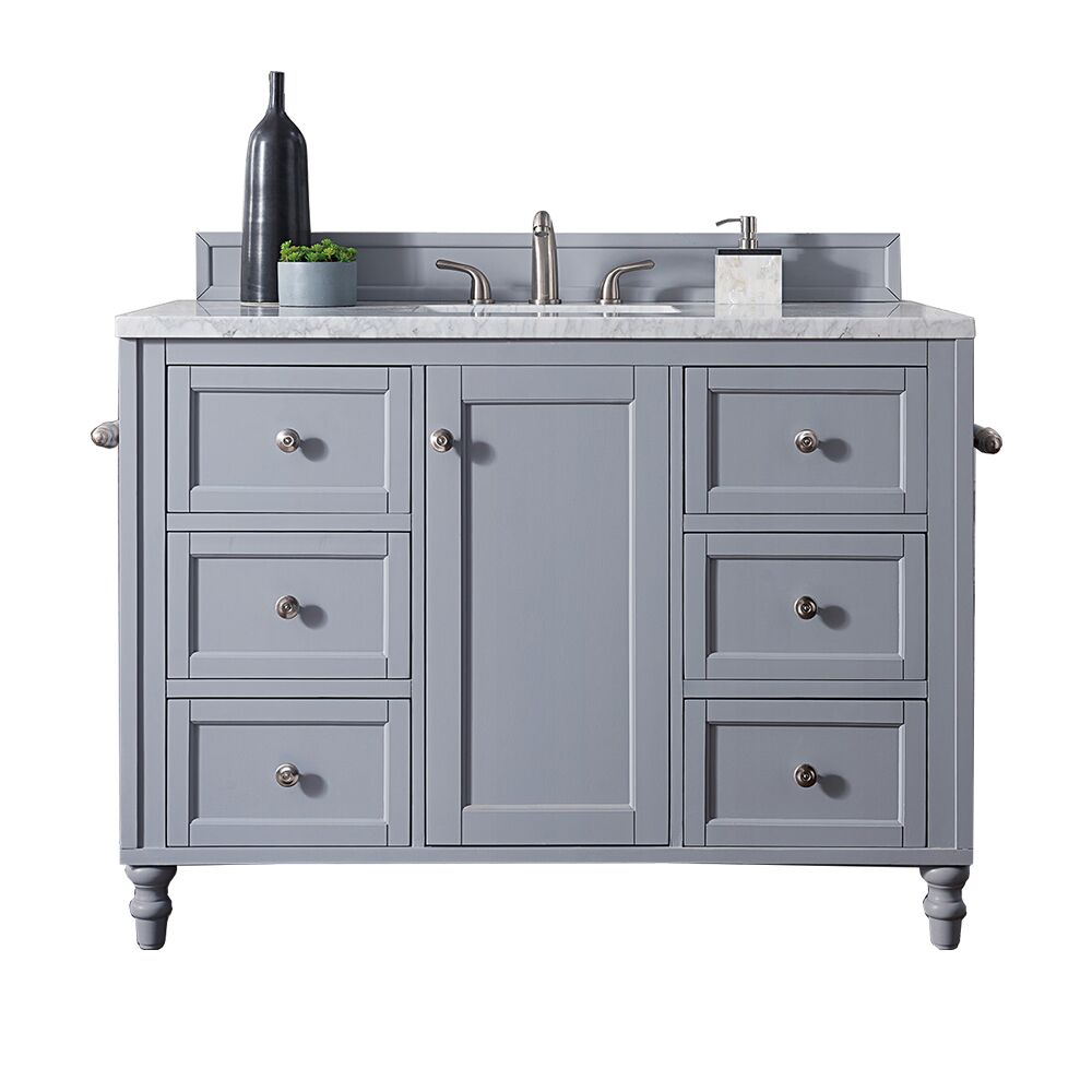"Issac Edwards Collection 48"" Single Vanity, Silver Grey with top options"