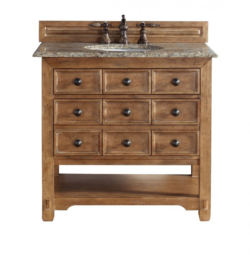 James martin malibu collection 36 single vanity cabinet honey alder Solid wood bathroom vanities cabinets