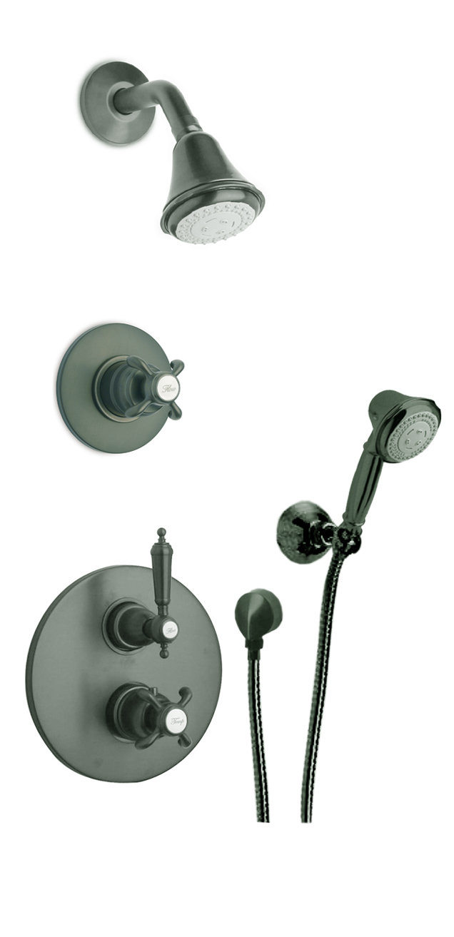 """Thermostatic Shower With 3/4"""" Ceramic Disc Volume Control, 3-Way Diverter and Hand-Shower in 3 Color Options"""