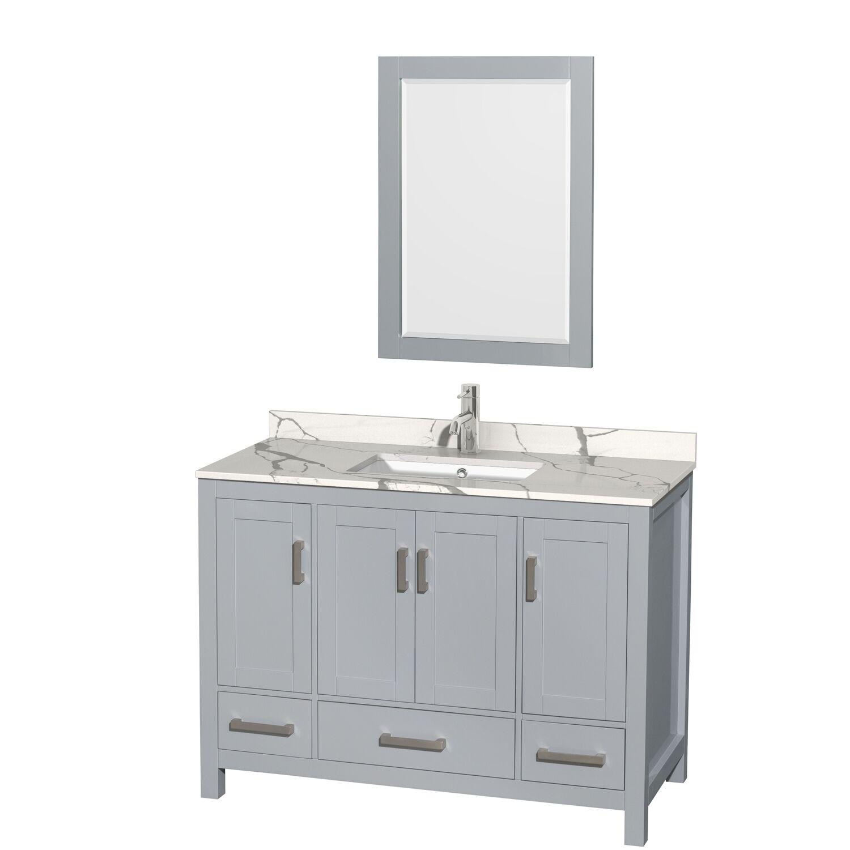 "48"" Single Bathroom Vanity with Color, Countertop and Mirror Options"