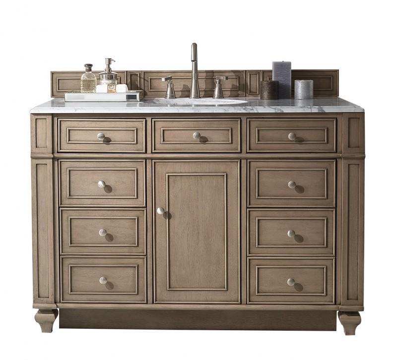 48 inch antique single sink bathroom vanity whitewashed for 48 inch bathroom vanity base
