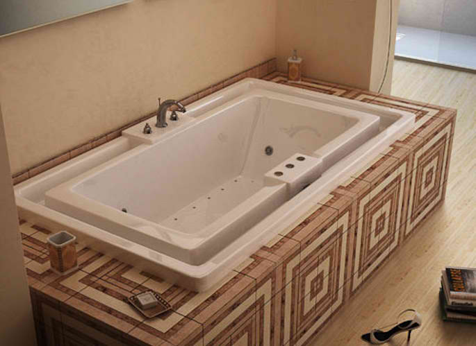 Whirlpools 46 x 78 Endless Flow Soaking Bathtub