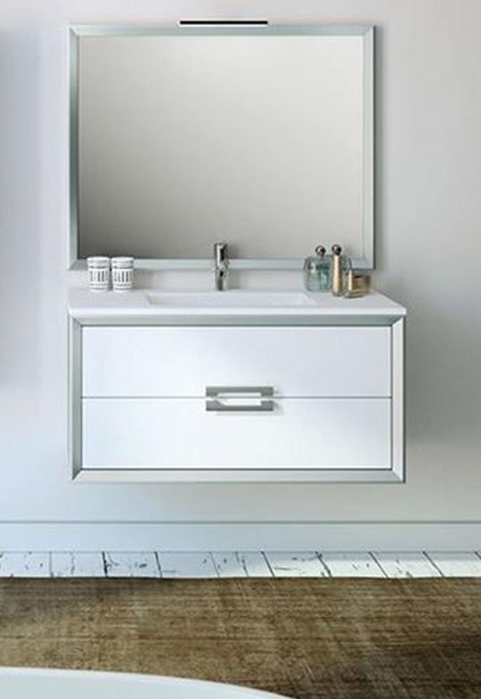 "40"" Single Sink Bathroom Vanity 2 Drawer Ceramic Sink with 4 Color Options"