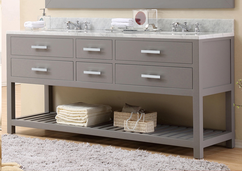 "72"" Cashmere Grey Double Sink Bathroom Vanity"