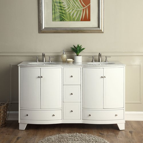 60 Inch Vanity Top : Inch double sink contemporary bathroom vanity white