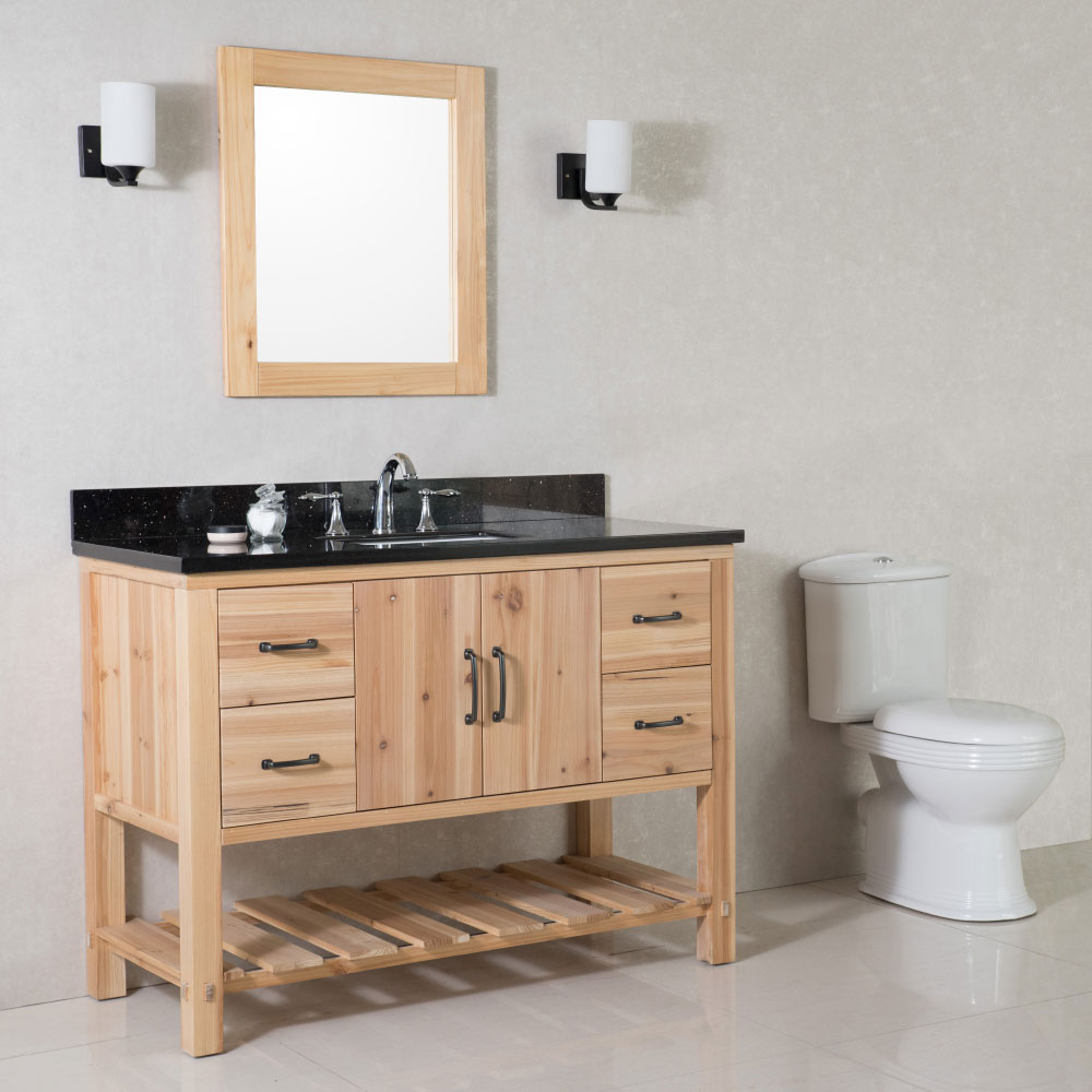 """The Bella Collection 48"""" in Single Sink Vanity in Granite And Marble Counter Top Options"""