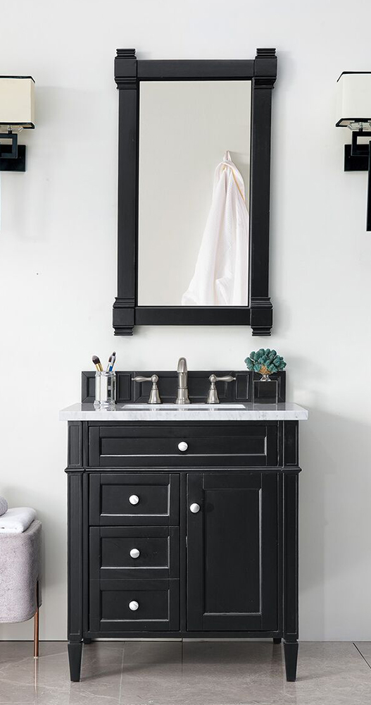 "James Martin Brittany Collection 30"" Single Vanity, Black Onyx"