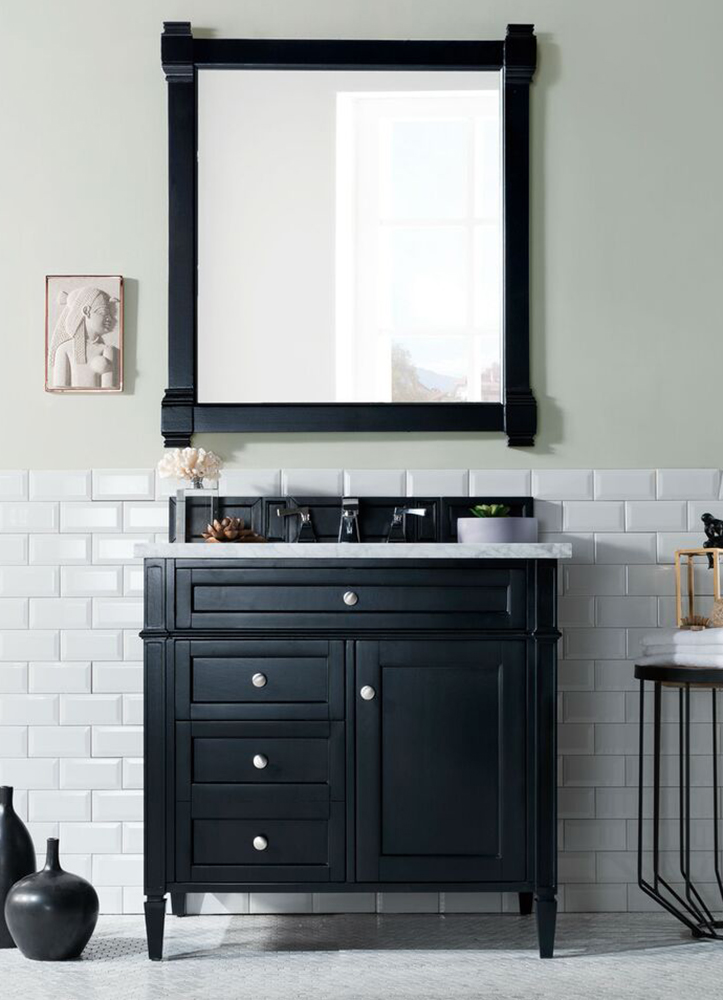 """James Martin Brittany Collection 36"""" Single Vanity, Black Onyx"""