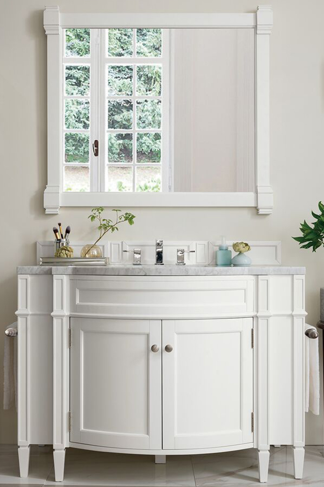 """James Martin Brittany Collection 46"""" Single Vanity, Cottage White"""