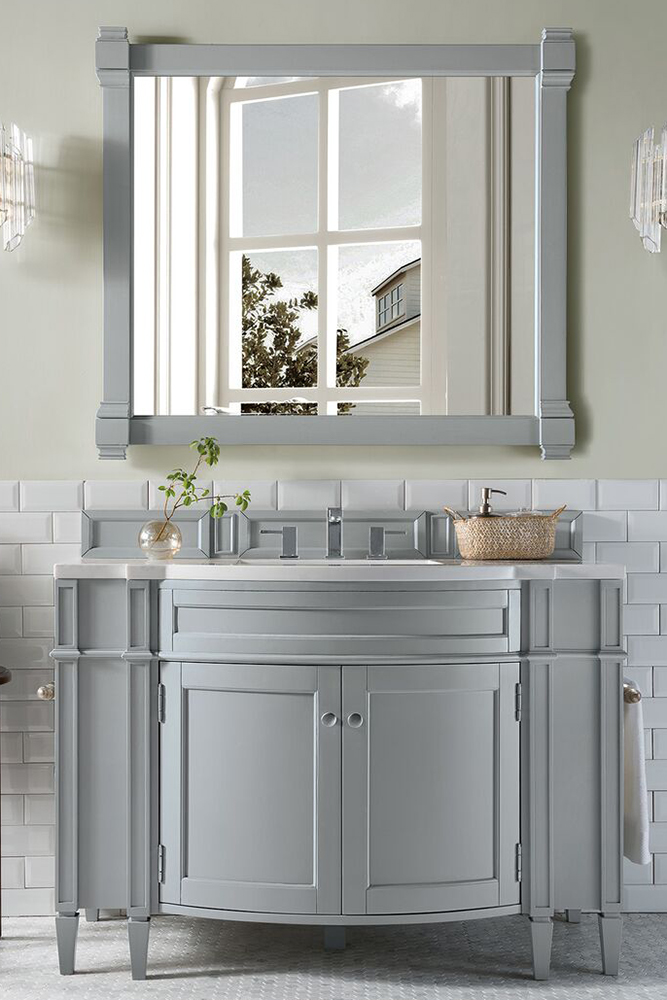 """James Martin Brittany Collection 46"""" Single Vanity, Urban Gray"""