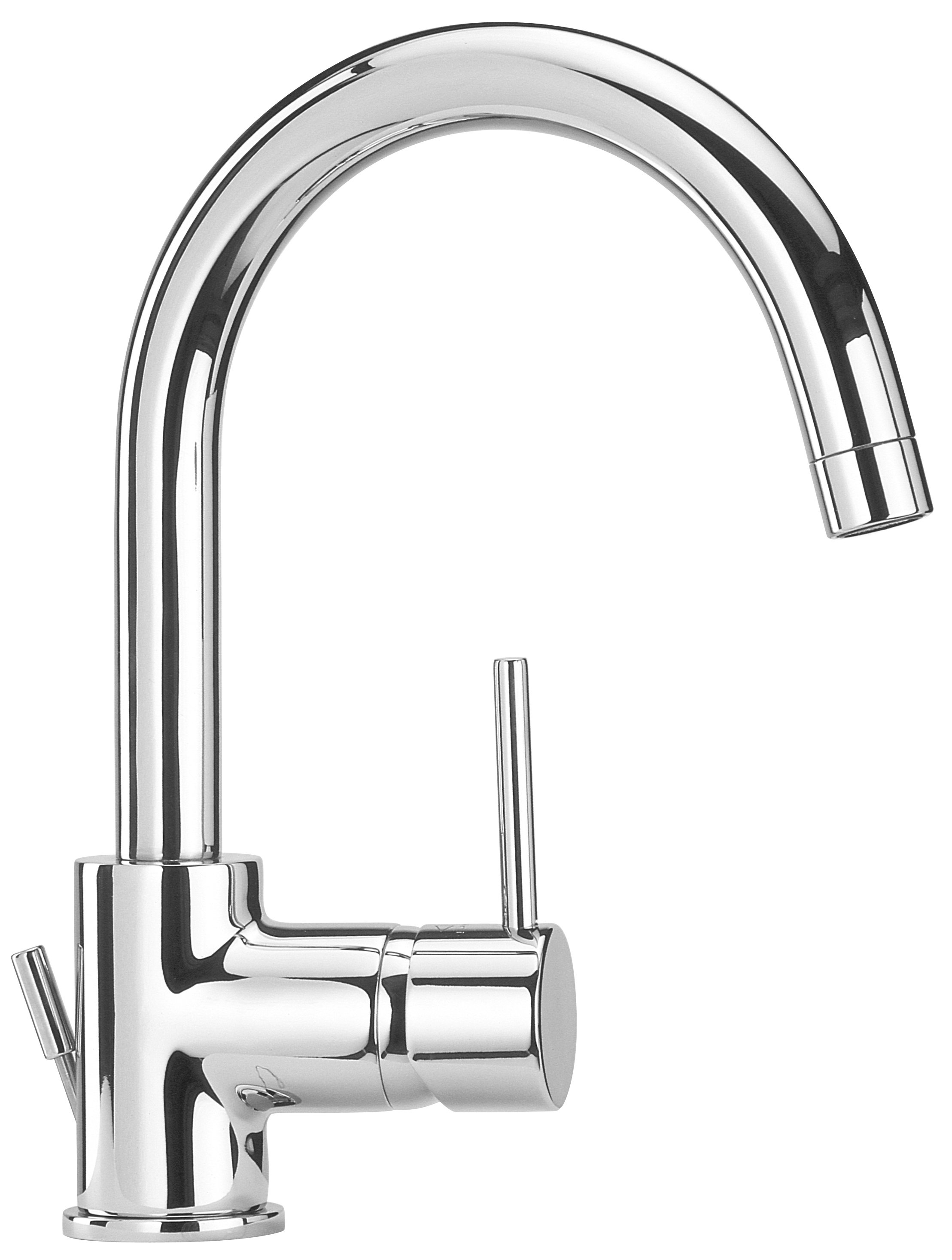 Single Hole Lavatory Faucet with Two Handles in Chrome