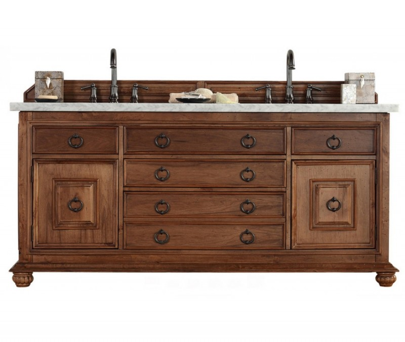 "James Martin Mykonos Collection 72"" Double Vanity Cabinet, Cinnamon"