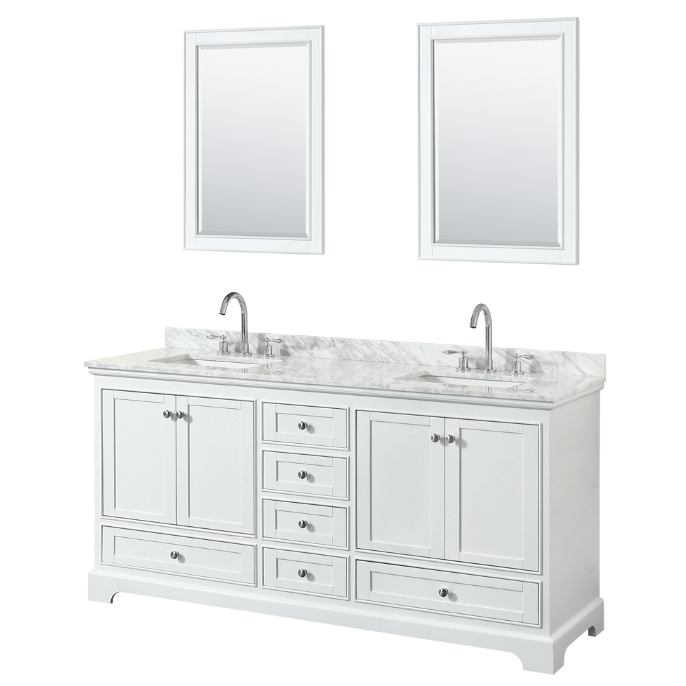 72 inch double sink transitional white finish bathroom vanity set Bathroom sink and vanity sets