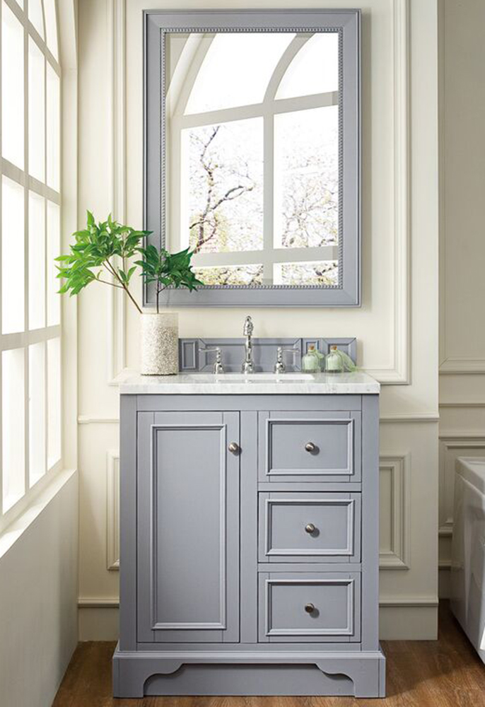 "James Martin De Soto Collection 30"" Single Vanity, Silver Gray"