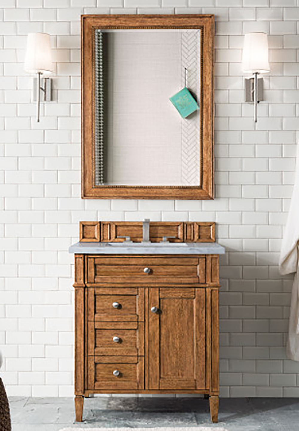 "James Martin Brittany Collection 30"" Single Vanity, Saddle Brown"