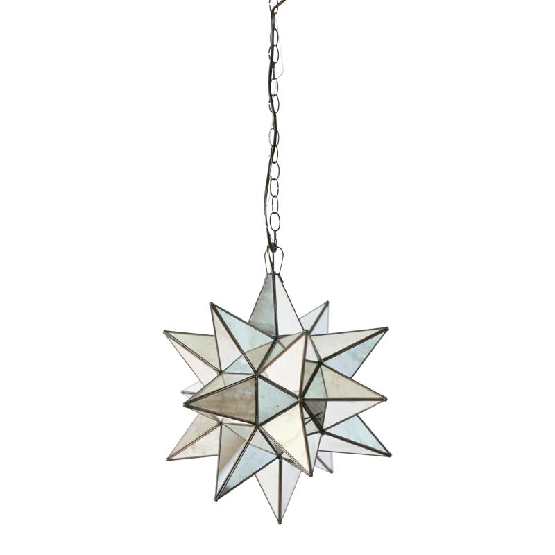 Star Chandelier with Antique Mirror - Size Option
