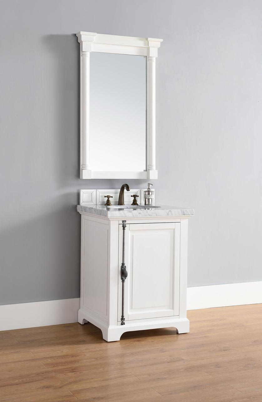 """James Martin Providence Collection 26"""" Single Vanity, Cottage White"""