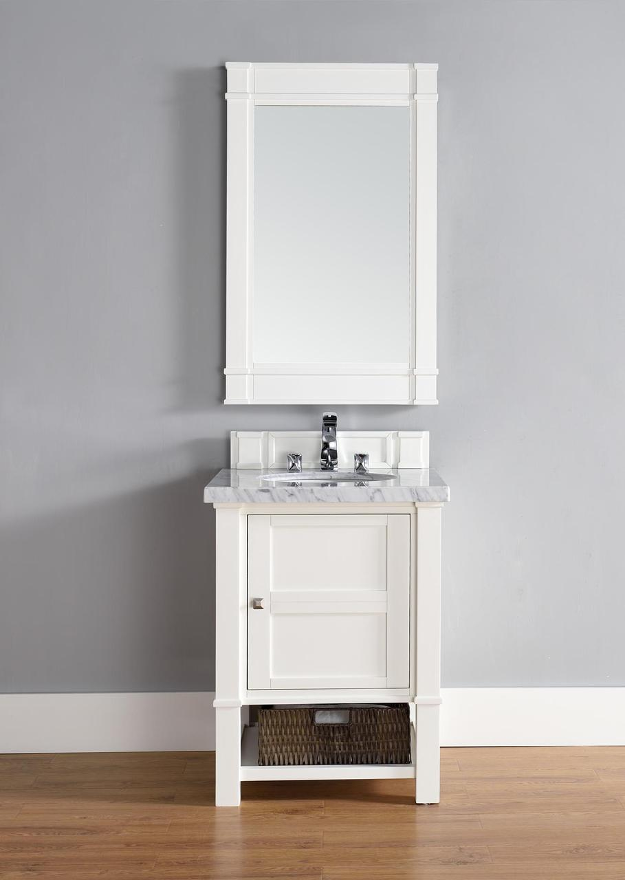 "James Martin Madison Collection 26"" Single Vanity, Cottage White"