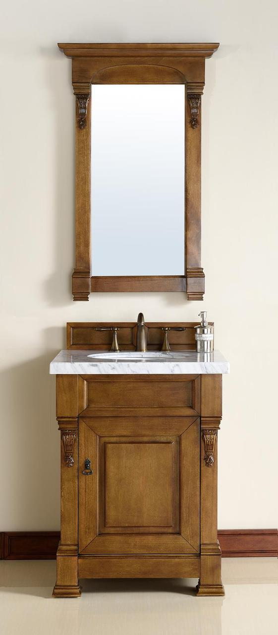 """James Martin Brookfield Collection 26"""" Single Vanity, Country Oak"""