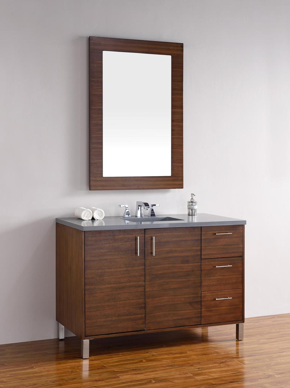 "James Martin Metropolitan Collection 48"" Single Vanity, American Walnut"