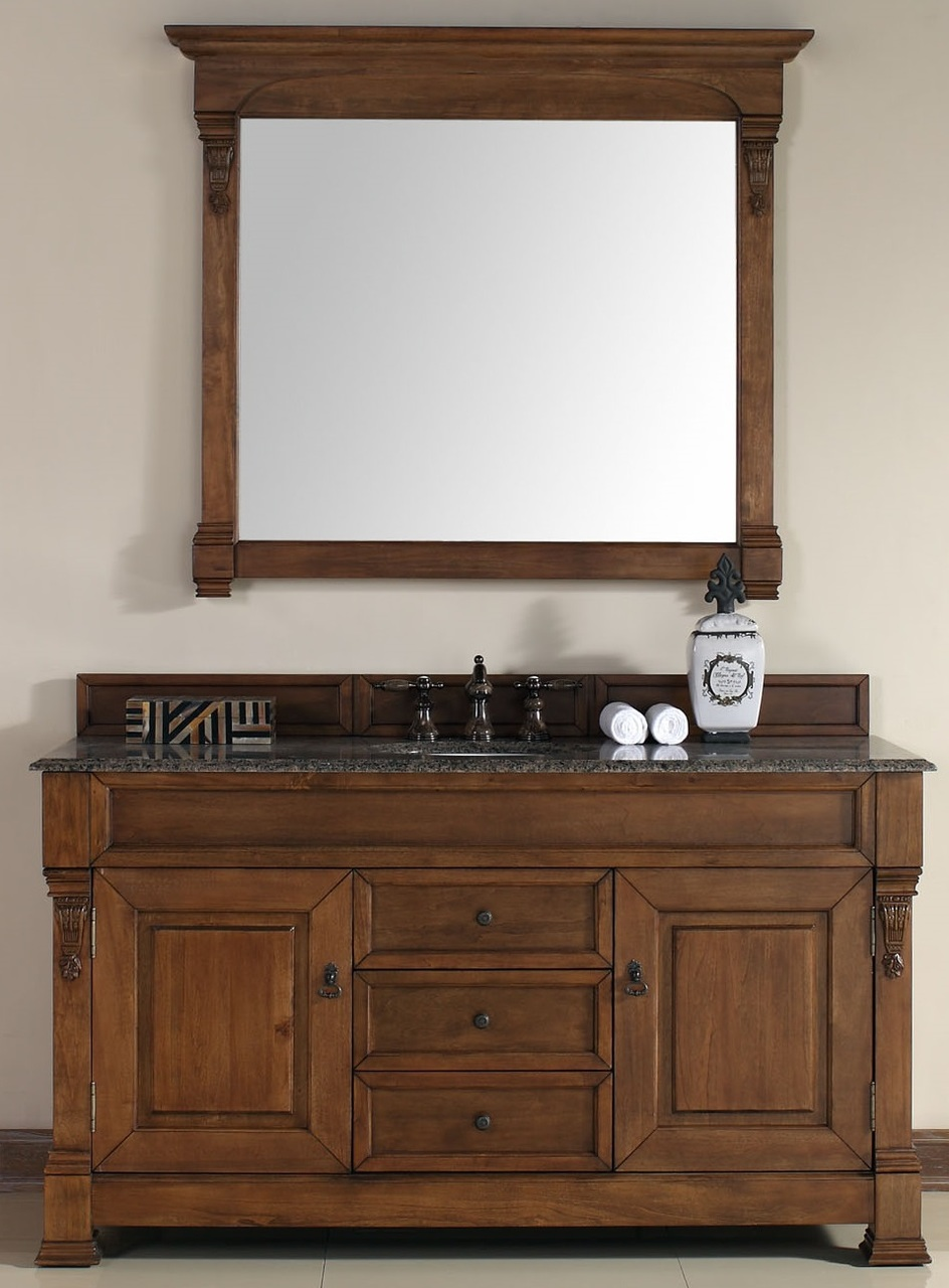 """James Martin Brookfield Collection 60"""" Single Vanity, Country Oak"""