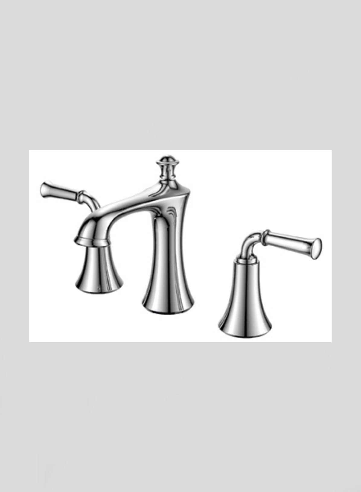 Accanto Widespread 2 Handles Chrome Bathroom Faucet