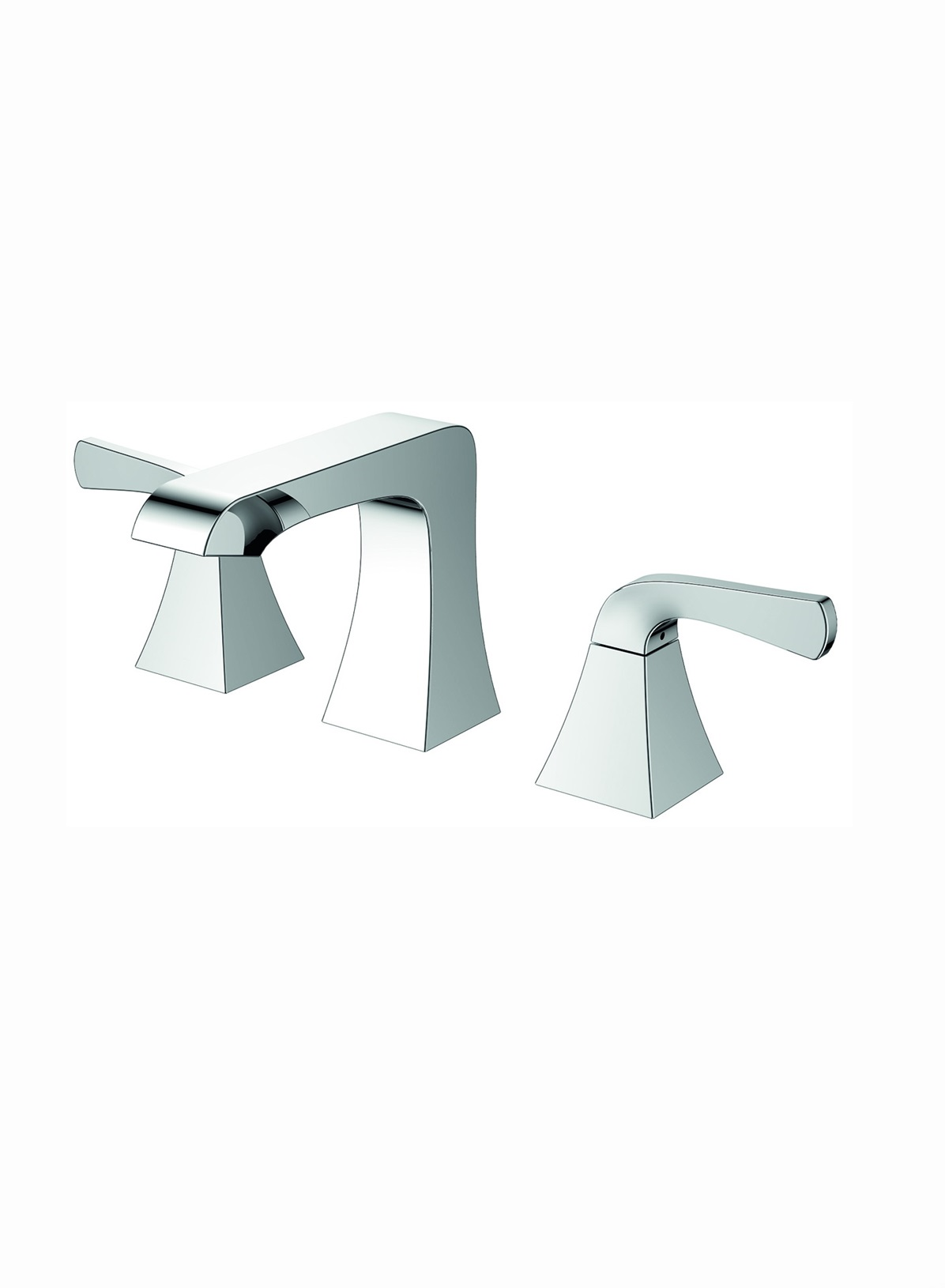 Accanto Widespread 2 Handles Contemporary Bathroom Faucet