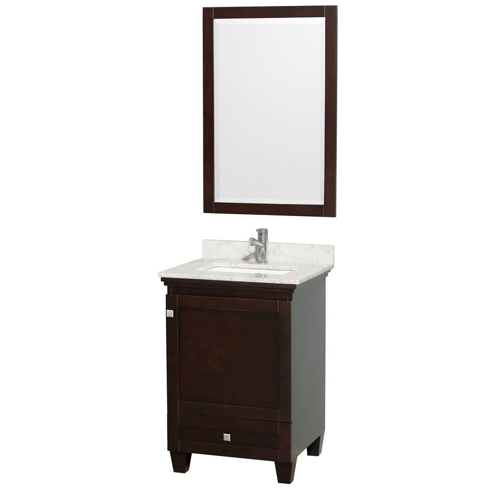 Acclaim 24 espresso bathroom vanity set solid oak vanity for Espresso vanity bathroom ideas
