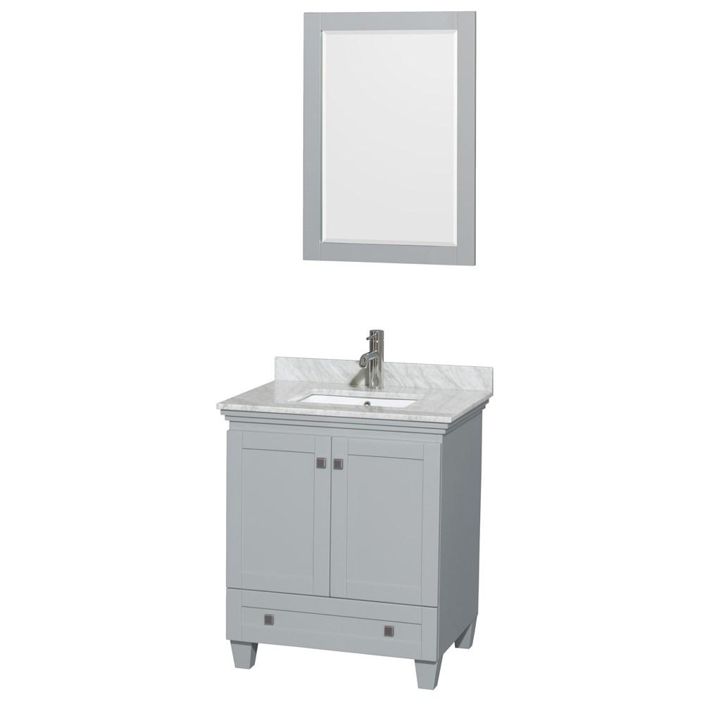 Accmilan 30 inch single bathroom vanity in grey finish for Gray 30 inch bathroom vanity