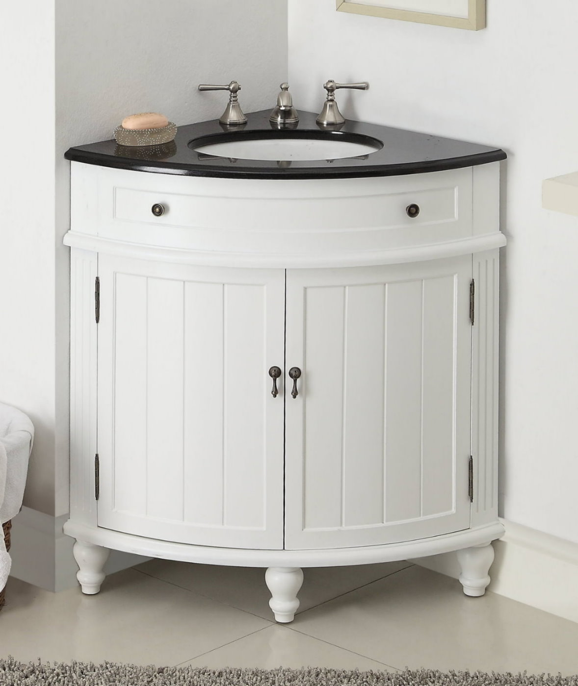 white corner bathroom vanity adelina 24 inch corner antique bathroom vanity white wood 21517