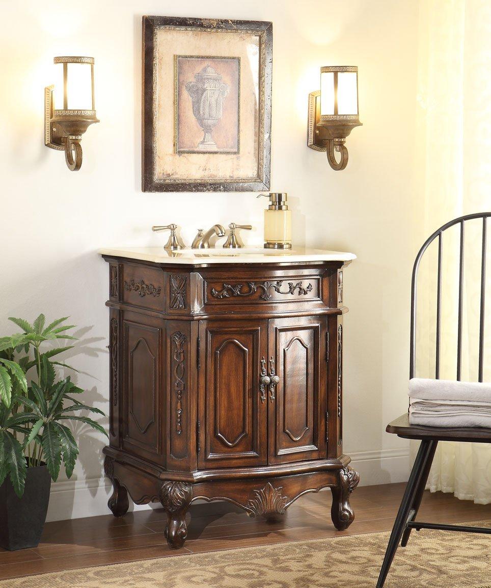 Adelina 27 Inch Lush Wood Finish Bathroom Vanity