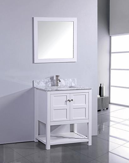 Adelina 30 inch Contemporary White Finish Bathroom Vanity Cabinet
