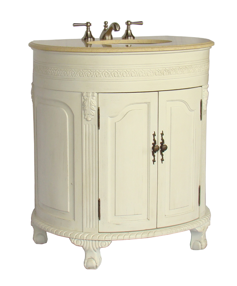 32 inch Adelina Antique White Bathroom Vanity
