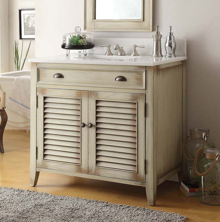 36 inch Adelina Antique Cottage Bathroom Vanity