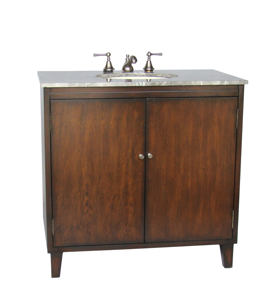 Adelina 36 Inch Traditional Bathroom Vanity Granite Counter Top One Piece Genuine