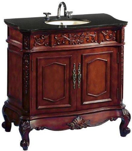 43 inch Adelina Vintage Bathroom Vanity Antique Cherry Finish