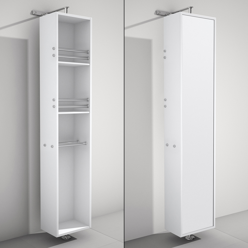 rotating bathroom cabinet april rotating floor linen cabinet white finish with mirror 14250