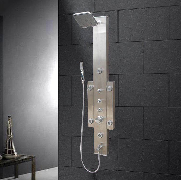 "Bathroom Shower Panels ariel stainless steel shower panel, dimensions: 12"" x 58"