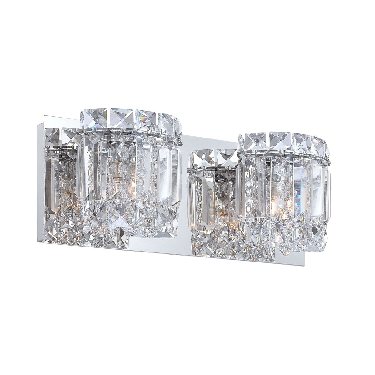 Duchess 2 Light Bath and Vanity Clear glass in Chrome