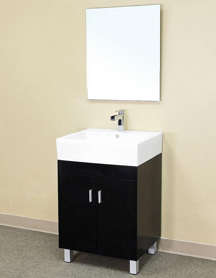 Bella 22 inch Bathroom Vanity Dark Espresso White Ceramic Top
