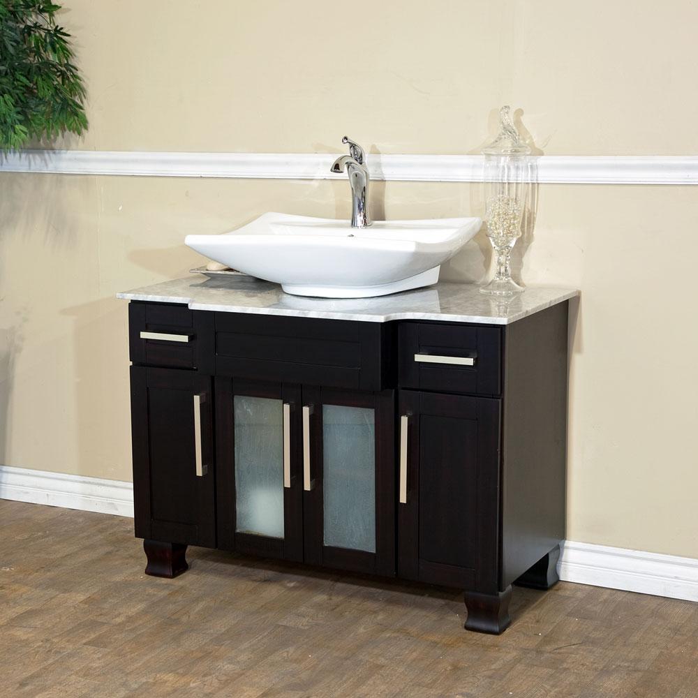 Bella 40 inch Single Sink Bathroom Vanity Italy Marble Top