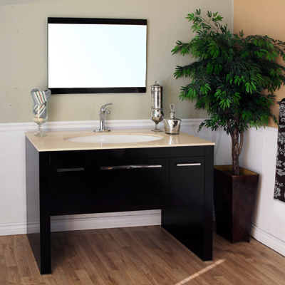 Bella 55 inch Single Sink Bathroom Vanity Creama Marfil Top