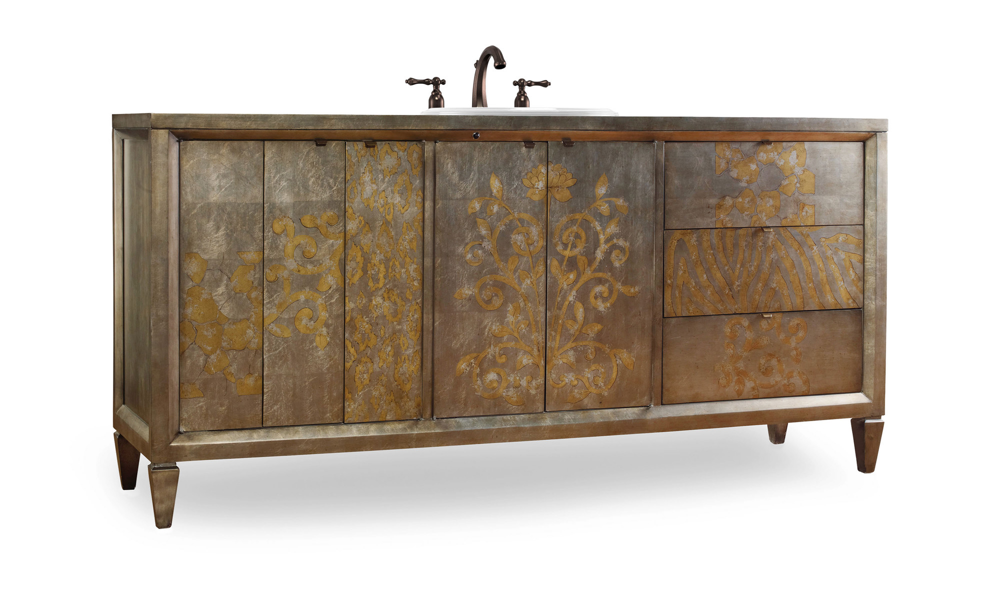 Catherine 76 inch Hall Chest Bathroom Vanity by Cole & Co. Designer Series