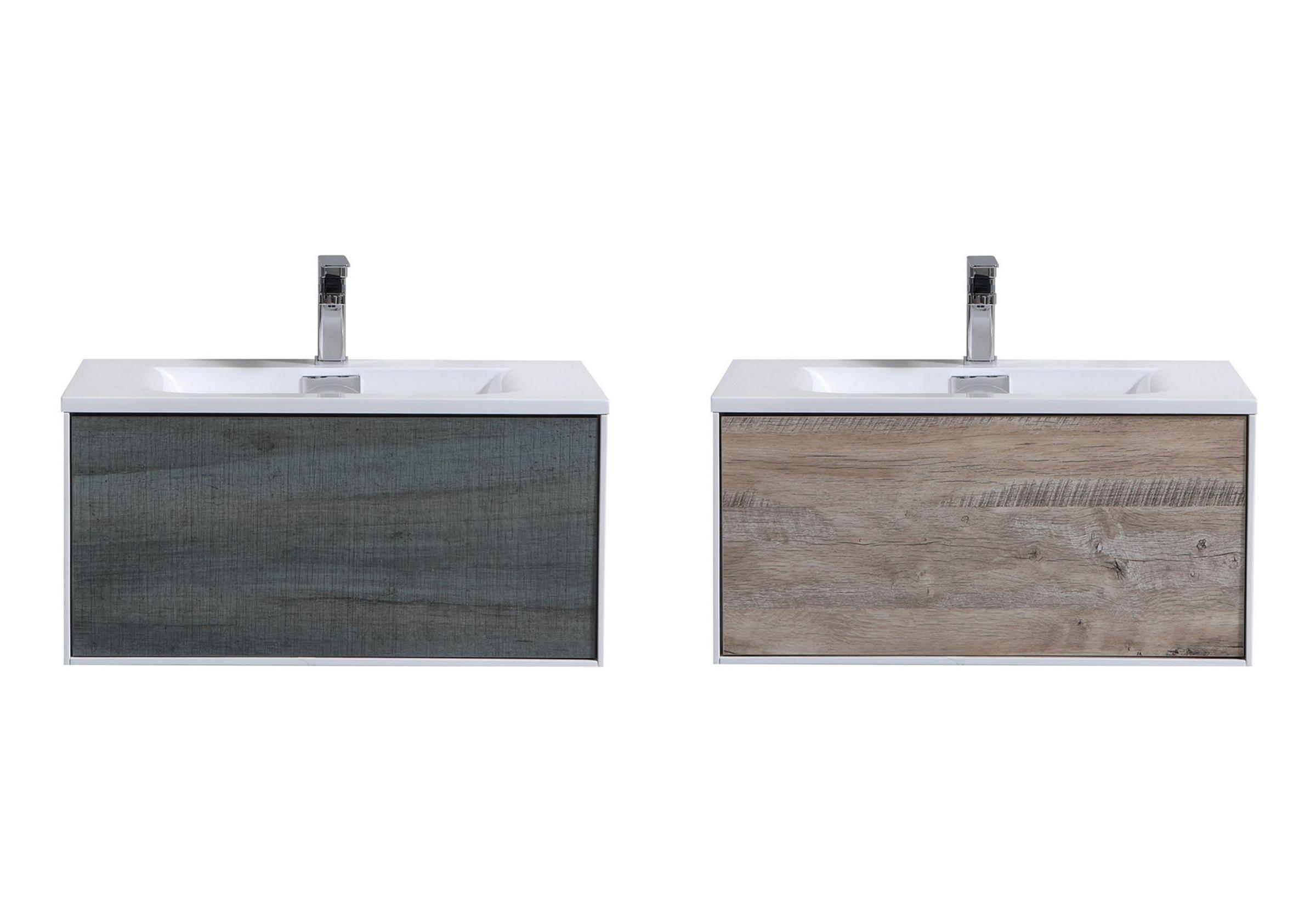 "Modern Lux 30"" Wall Mount Modern Bathroom Vanity 2 Color Options"