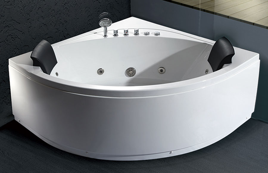 EAGO AM200 5' Rounded Modern Double Seat Corner Whirlpool Spa